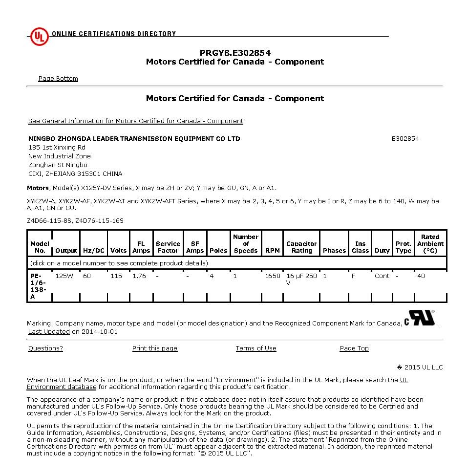 CUL_Motors Certified for Canada